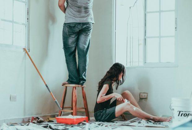 Peindre un plafond sans trace